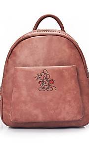 Women PU Casual / Outdoor / Professioanl Use / Shopping Backpack Green / Brown / Red / Gray / Black