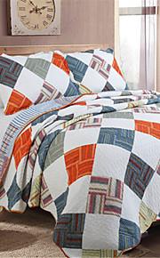 В клетку Стеганныеодеяла материал King (Ш 264 x Д 234 см) 2 декоративных чехла / 1 одеяло