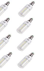4W E14 Ampoules Maïs LED T 48 SMD 5730 250 lm Blanc Chaud Décorative V 8 pièces