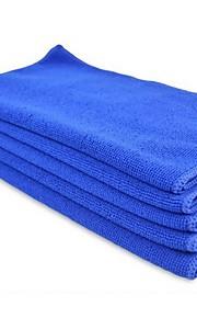 autoyouth 5pc hurtige tørre microfiber håndklæder rengøring klud anti-ridse bil detaljering pleje håndklæder blå