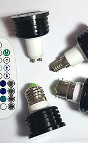 4W E14 / GU10 / B22 / E26/E27 Spot LED MR16 1pcs LED Haute Puissance 400 lm RVBGradable / Audio-activé / Commandée à Distance /