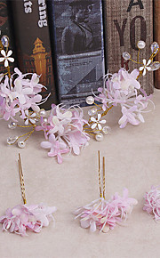 Women's Tulle / Fabric Headpiece-Wedding / Special Occasion / Casual Hair Clip 4 Pieces