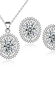 Bijoux Colliers décoratifs / Boucles d'oreille Nuptiales Parures Zircon cubique Multi-voies PorterMariage / Soirée / Quotidien /