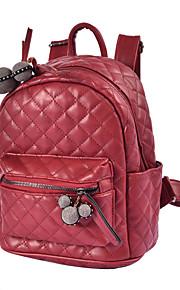 Women PU Casual / Outdoor / Shopping Backpack Green / Brown / Red / Black / Khaki