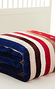 Coral fleece Brown,Yarn-dyed Gingham 70% Acrylic/30% Cotton Blankets S:150*200cm