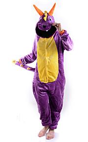 Kigurumi Pyjamas Drage Trikot/Heldraktskostymer Halloween Animal Nattøy Lilla Ensfarget Polar Fleece Kigurumi UnisexHalloween / Jul /