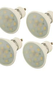 5W GU10 Spot LED MR16 10 SMD 5730 400 lm Blanc Chaud Décorative V 4 pièces