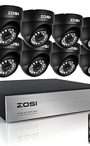 zosi8ch 720p hdmi CCTV-system videooptager 1TB 4stk 720p hjem sikkerhed kamera vandtæt overvågning kits