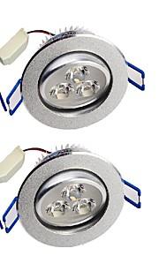 YouOKLight  2PCS 3W 280LM  3-LEDs Warm White/White  LED Ceiling Lamp - Silver (AC 85-265V)