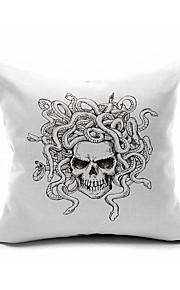 Halloween Skull Throw Case Cotton Linen Decorative 2 Sides Printing Modern Contemporary Pillow Cover