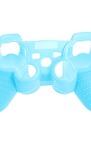 PS3 контроллер Серебристые Защитный чехол силиконовый мешок кожи