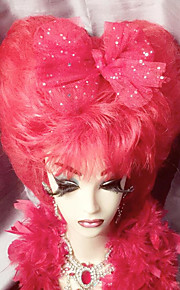 Hand-crafted red Darg Queen heart-shaped outline of the queen's full lace wig
