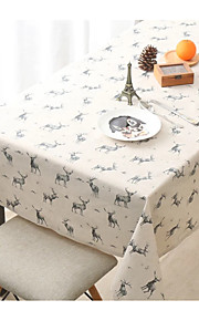 Rectangular Patterned Table Cloth  Linen Material Hotel Dining Table / Wedding Banquet Dinner / Home Decoration