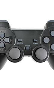Draadloze controller met trilfunctie, voor PS3, PS2 en pc (2.4Ghz, zwart)