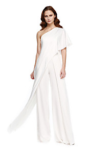 ts couture® promenade del vestito da sera convenzionale - Ivanka guaina stile / Celebrity Style / colonna di una spalla chiffon piano di lunghezza