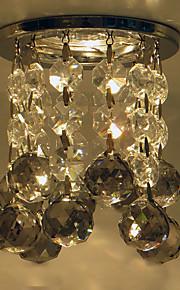 Smoke Grey Color Crystal Ball Ceiling Light with Chrome Base