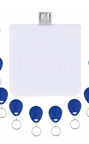 rfid 125khz kontaktløs android system, mini-reader micro usb port em kortlæser med 10stk id fjernbetjeninger