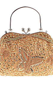 L.west Women Elegant High-grade The Butterfly Beaded Sequins Evening Bag