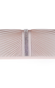 L.west Women Elegant High-grade Fold Diamonds Evening Bag