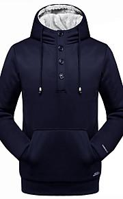 Herren Kapuzenshirt Übergröße Lässig/Alltäglich Ausgehen Aktiv Einfach Solide Rundhalsausschnitt Unelastisch Baumwolle Acryl Polyester
