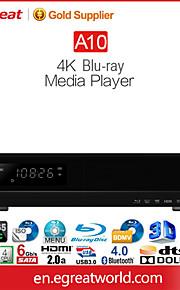 "Egreat A10 4k BluRay medieafspiller med indbygget 3.5 ""hdd bakke hdr / hdr10 dolbyatmos & dts: x 11.2ch rå output"
