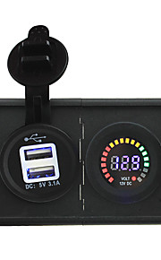 12v geleid digitale display voltmeter en 3.1a usb adapter met huisvesting houder paneel voor auto boot truck rv