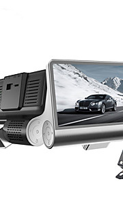ny tre-vejs kamera 4,0 tommer fuld 1080p HD dual linse justerbar 170 graders vidvinkel bil dvr nattesyn optager