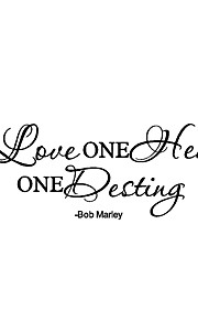 One Love One Heart Quotes Wall Stickers Bob Marley Says Wall Decals Home Decor