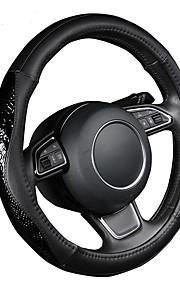 autoyouth pu lederen stuurwiel hoes zwart lychee patroon met mode serpentine lederen m size fits 38cm / 15 diameter