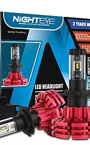 nighteye 2pcs auto 60w / set 10000lm auto auto H7 ha condotto il faro kit drl fendinebbia lampadina 6500k bianco 3000k 8000k alto potere