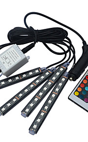 bil rgb førte lysstofrør bil styling dekorative atmosfære lamper bil interiør lys 16 farver med fjernbetjening DC12V