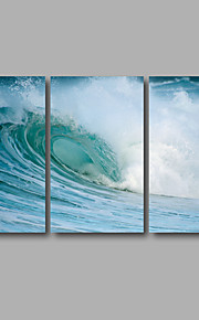 Stretched Canvas Print Three Panels Canvas Wall Decor Home Decoration Abstract Modern Waves Seascape