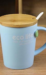 미니멀리즘 색의 드링크웨어, 200 ml 간단한 기하학적 패턴 세라믹 주스 우유 일상용 컵