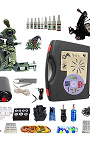 Complete Tattoo Kit S023G2A2Z12 2 Machines Liner & Shader Mini Power Supply Ink Cups
