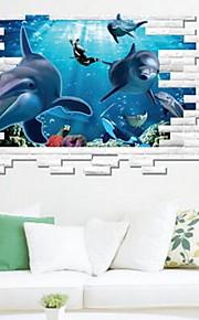 Tiere Wand-Sticker 3D Wand Sticker Dekorative Wand Sticker,Vinyl Stoff Haus Dekoration Wandtattoo