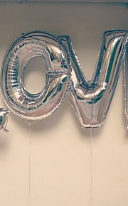 32 Inch Alphabet Letter Balloons Silver Beter Gifts® Party Decoration