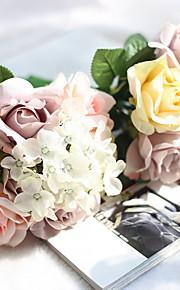 Свадебные цветы Круглый Каскадом Розы Букеты Свадьба Партия / Вечерняя Полиэфир Около 18 см