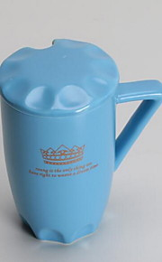 클래식 미니멀리즘 드링크웨어, 400 ml 간단한 기하학적 패턴 세라믹 누드 우유 일상용 컵
