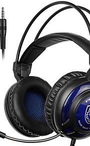 sades sa-805 3,5 mm gaming headsets met microfoon ruisonderdrukking muziek hoofdtelefoon zwart-blauw voor PS4 laptop pc mobiele telefoons