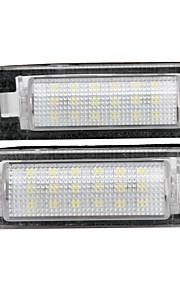 2 x hvid 18 førte 3528 SMD nummerplade-lygter lampe pære til benz W210 W202 4d