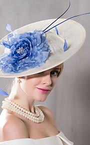 Feather Flax Silk Headpiece-Wedding Special Occasion Casual Outdoor Fascinators Hats 1 Piece
