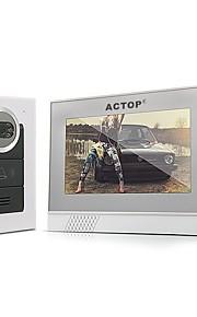 actop 7 TFT LCD infrarød ir video dørtelefon intercom
