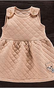 Mädchen Kleid Strand einfarbig Baumwolle Sommer Ärmellos