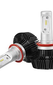 H11 LED Headlights LED Headlight Bulbs with 2 Pcs of Conversion Kits 25W/2Pcs 5000LM Bridgelux COB Chips Fog Light