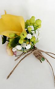 פרחי חתונה בצורה חופשיה שושנים פרחי אדמוניות פרחי דש חתונה חתונה/ אירוע פוליאסטר