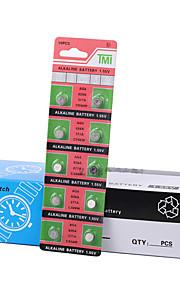 tmi AG4 mønt&knapcelle alkaline / alkalisk batteri 1.55V 40 pack