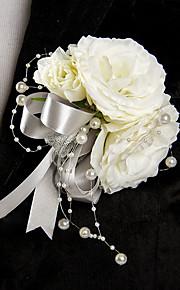 פרחי חתונה בצורה חופשיה ורדים פרחי דש חתונה חתונה/ אירוע סאטן חרוז
