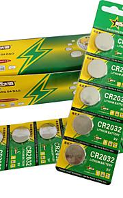 CR2032 mønt&knapcelle lithium batteri 3v 170mah 30 pack