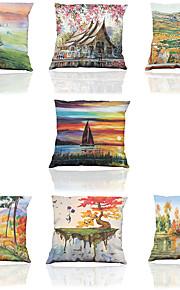 7 pcs Polyester Housse de coussin Taie d'oreiller,Solide Nouveauté Texturé Vie Sauvage Citations & DictonsModerne/Contemporain