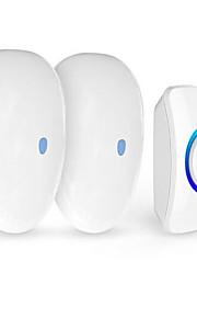FUERS Wireless Doorbell Home Door DC Long Distance Pager Sensor Doorbell Shop Welcome Guests One Drag Two